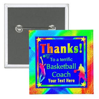 Basketball Coach Thank You Button