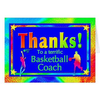 Basketball Coach Thank You Card