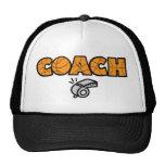 Basketball Coach whistle, orange Mesh Hat