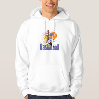 Basketball Colored Paint Splashes Hoodie