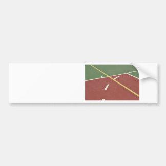 Basketball court bumper sticker