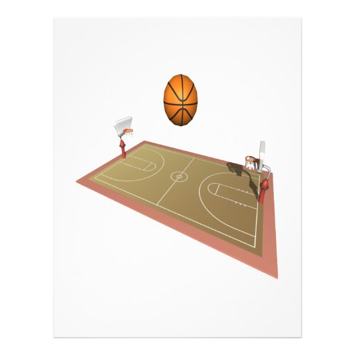 Basketball Court Personalized Flyer