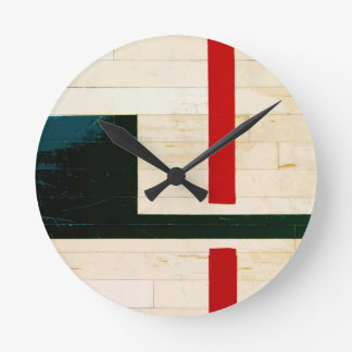 Basketball Court Lines and Markings Round Clock