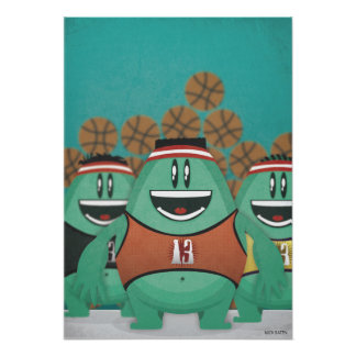 basketball creatures poster