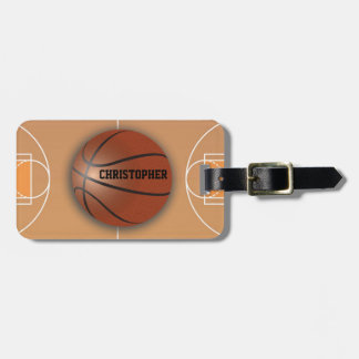 Basketball Custom Luggage Tag
