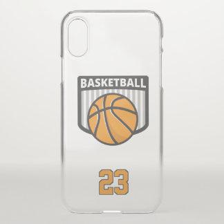 Basketball. Custom  Number iPhone X Case