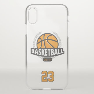 Basketball. Custom Player  Name & Number iPhone X Case