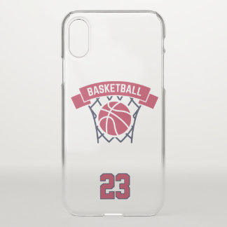 Basketball. Custom Player  Number. iPhone X Case