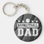 Basketball Dad Basic Round Button Key Ring