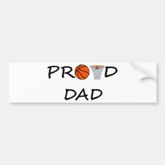 Basketball DAD Bumper Sticker