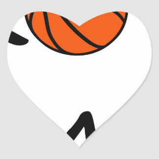 Basketball DAD Heart Sticker