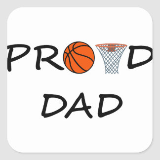 Basketball DAD Square Sticker