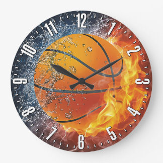 Basketball Decorative Wall Large Clock