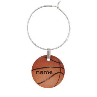 Basketball Design Wine Charm