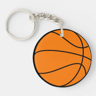 Basketball Double-Sided Round Acrylic Key Ring