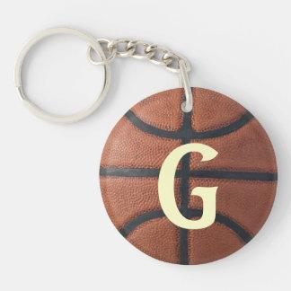 Basketball Double-Sided Round Acrylic Key Ring