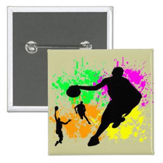 Basketball Dreams 15 Cm Square Badge