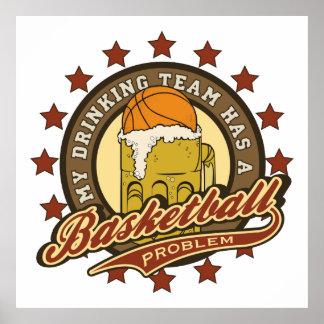 Basketball Drinking Team Poster