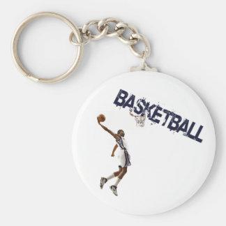 Basketball Dunk Basic Round Button Key Ring