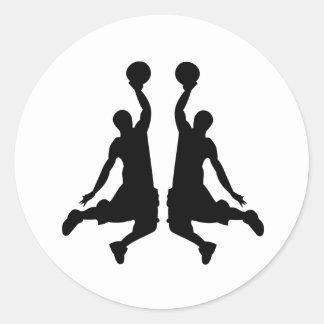 Basketball Dunk Mirror Image Sticker