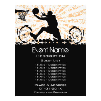 Basketball Event Promotion Custom Flyer