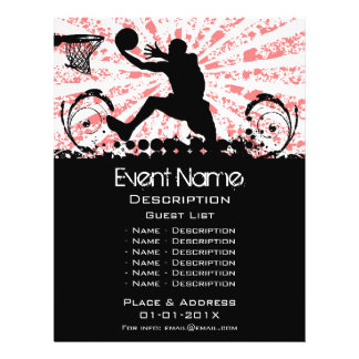 Basketball Event Promotion Personalized Flyer
