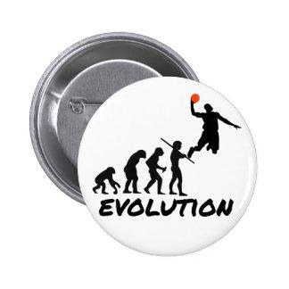 Basketball Evolution 6 Cm Round Badge