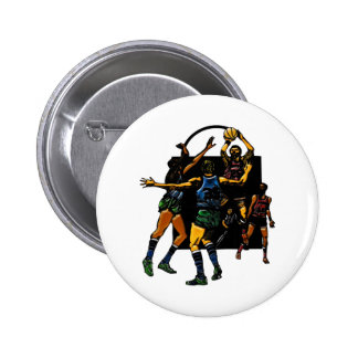 Basketball Face-off 6 Cm Round Badge