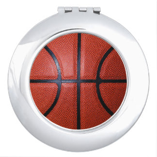 Basketball Fan Female Gift Idea Compact Mirror