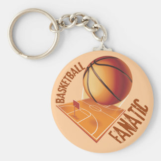 BASKETBALL FANATIC BASIC ROUND BUTTON KEY RING