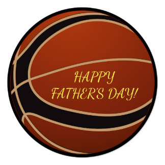 Basketball Father's Day Party Invitation