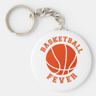 Basketball Fever Basic Round Button Key Ring