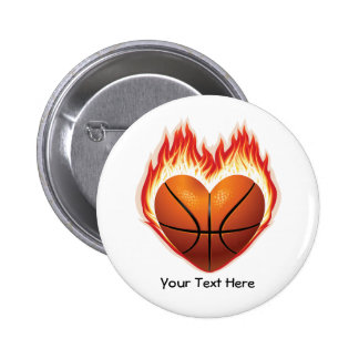 Basketball Flame Button (personalized)