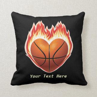 Basketball Flame Throw Pillow