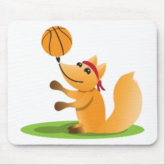 Basketball fox mouse pad