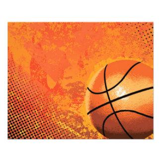 basketball game team player tournament court sport 11.5 cm x 14 cm flyer