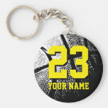 Basketball gifts for team coach, players and fans basic round button key ring