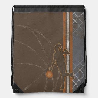 Basketball Girl Drawstring Backpack