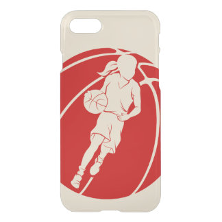 Basketball Girl Dribbling in Basketball iPhone 8/7 Case