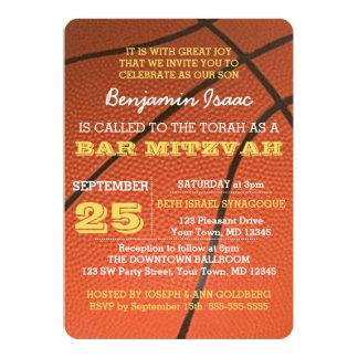 Basketball Gold Bar Mitzvah Invitation