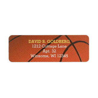 Basketball Golden Personalized Label