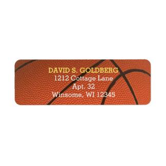 Basketball Golden Personalized Label Return Address Label