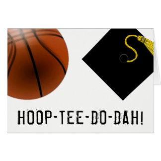 Basketball Graduation Card