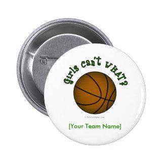 Basketball - Green 6 Cm Round Badge