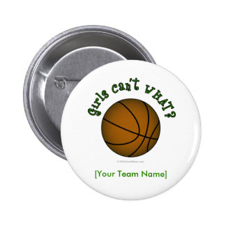 Basketball - Green 6 Cm Round Badge