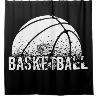Basketball Grunge Shower Curtain