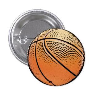 Basketball grunge texture button