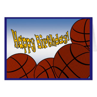 Basketball - Happy Birthday from Biggest Fan! Card