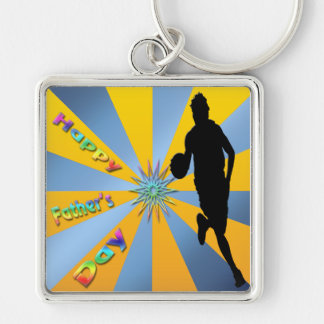Basketball - Happy Father s Day Keychain