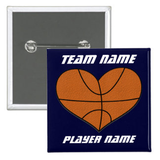 Basketball Heart Flair Button